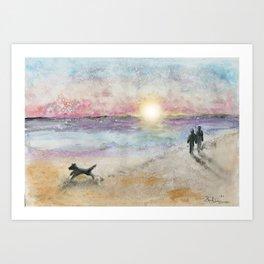 Sunrise Stroll Art Print