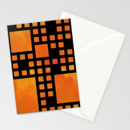 Visopolis V1 - orange flames Stationery Cards