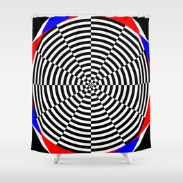Black & White Radiation Shower Curtain