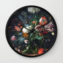 Jan Davidsz de Heem Vase of Flowers Wall Clock