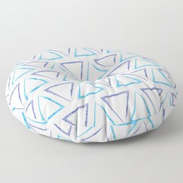 Peaks - Purple & Blue #238 Floor Pillow