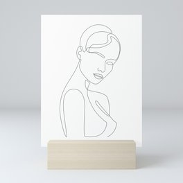 Shy Portrait Mini Art Print