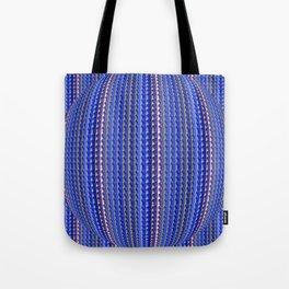 Mega Bright Indigo Lavender Blue Psychedelic Pattern Tote Bag