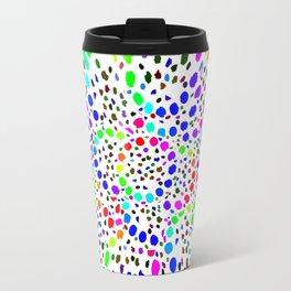 White Psicodelia Travel Mug