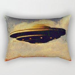 The Flying Saucer Rectangular Pillow