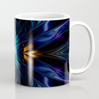 stargate Mugs featuring Stargate Fractal Abstract by BohemianBound