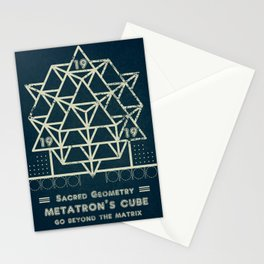 Sacred Geometry for your daily life - METATRON BLUEPRINT Stationery Cards