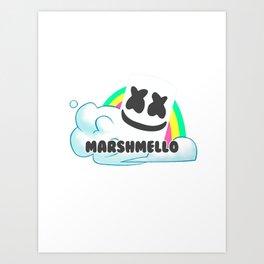 Rainbow marshmello Art Print