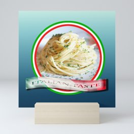 Food. Rolled spaghetti. Italian taste. Mini Art Print