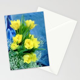 Tulips & Baby's Breath Stationery Cards