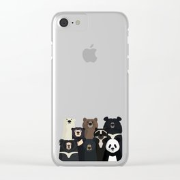 Bear family portrait Clear iPhone Case