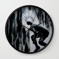 pivot Wall Clocks featuring Queens of Pain by JezRebelle