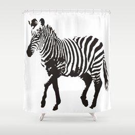 zebra  Shower Curtain
