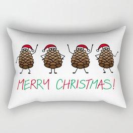 Dancing Christmas Pinecones | Festive | Winter Wonderland | pulps of wood Rectangular Pillow