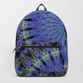Mandala in neon blue and green Backpack