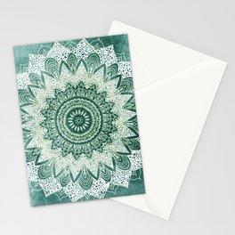 BOHOCHIC MANDALA IN MINT Stationery Cards