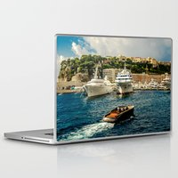 hercules Laptop & iPad Skins featuring Cruising Port Hercules in Monaco by ExperienceTheFrenchRiviera