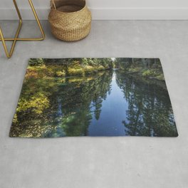 A Watery Avenue of Trees Rug