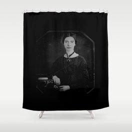 Portrait of Emiliy dickinson Shower Curtain