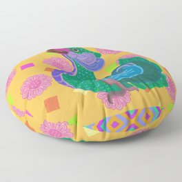 Colourful Animal Bird Mandarin Duck Oriental Decoration Patterns Floor Pillow