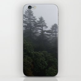 Evergreen Trees in the Mist of Yunnan, China iPhone Skin