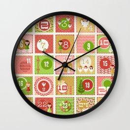 Merriment Christmas Advent Wall Clock