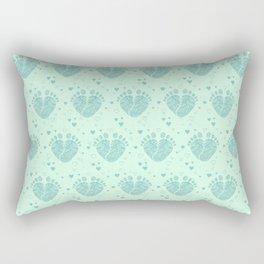 Baby feet background  3 Rectangular Pillow