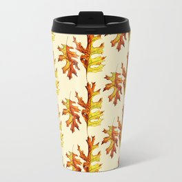 Ink And Watercolor Painted Dancing Autumn Leaves Travel Mug