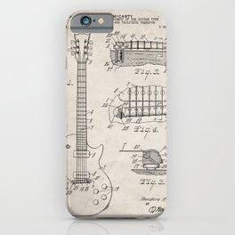 Gibson Guitar Patent - Les Paul Guitar Art - Antique iPhone Case