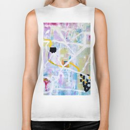 Colorful Abstract Painting Biker Tank