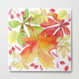 Autumn leaf fall Metal Print