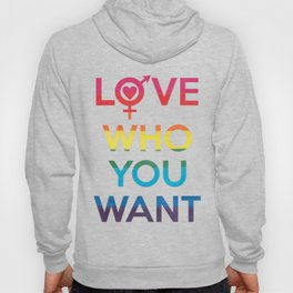 Love Who You Want LGBT Rainbow Hoody