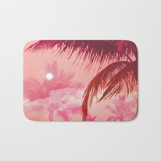 Tropical Pink Sunset Bath Mat