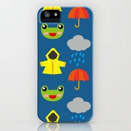 rainy days (Children's pattern) iPhone Case