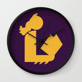 Lady Bat Reads Wall Clock