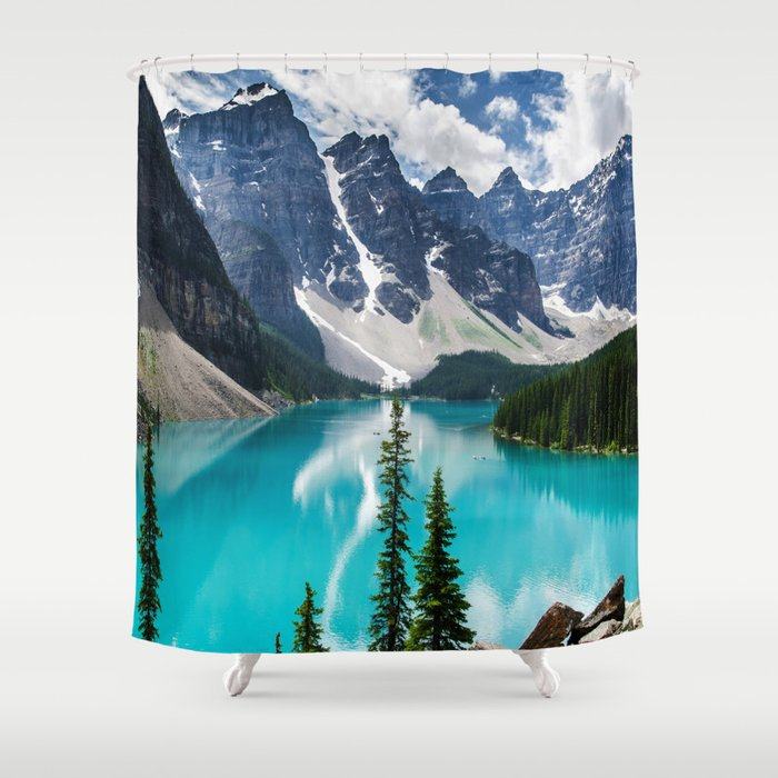 Lake Moraine Banff Shower Curtain