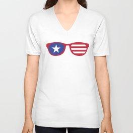 Cool 4th July Independence Day Design Unisex V-Neck