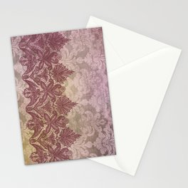 ABERDEEN HEIRLOOM, LACE & DAMASK: VICTORIAN PINKS Stationery Cards