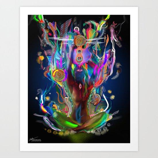 Ethereal Cosmosis Art Print