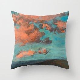 Clouds (A warm summer evening) Throw Pillow