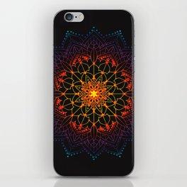 'Glowing Shamballa' Bohemian Mandala Black Blue Purple Orange Yellow iPhone Skin