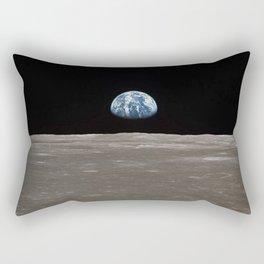 Earthrise Over Moon Apollo 11 Mission Rectangular Pillow