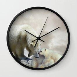 Polar Bears Wall Clock