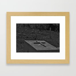 Graves black and white Framed Art Print