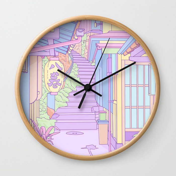 Lost in the Alleys of Japan Wall Clock