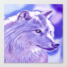 The Silver Wolf Canvas Print