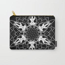 Crow Mandala Carry-All Pouch