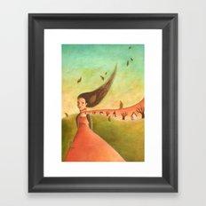 Autumn Lady Framed Art Print