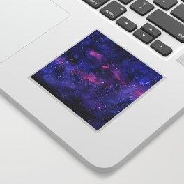 Galaxy Pattern Watercolor Sticker
