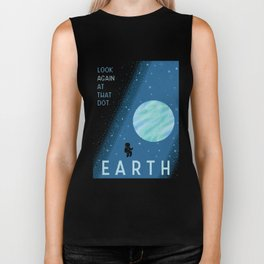 EARTH Space Tourism Travel Poster Biker Tank